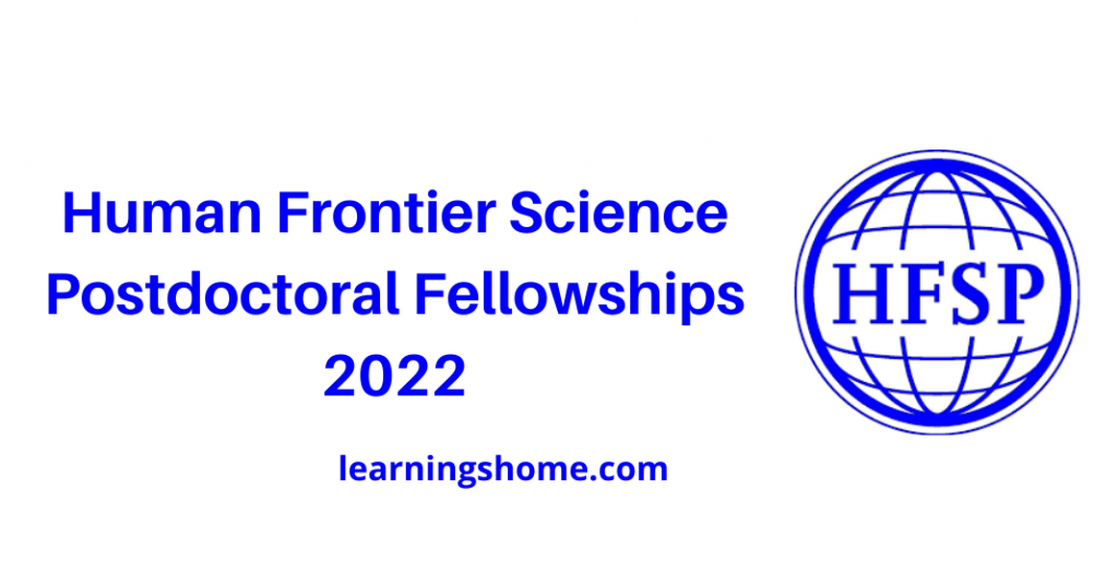 Human Frontier Science Postdoctoral Fellowships 2022