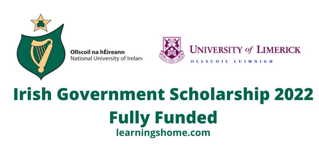 Irish Government Scholarship 2022 Fully Funded.