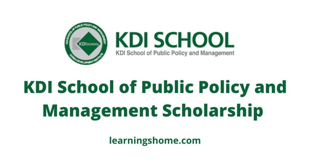 KDI-School-of-Public-Policy-and-Management-Scholarship