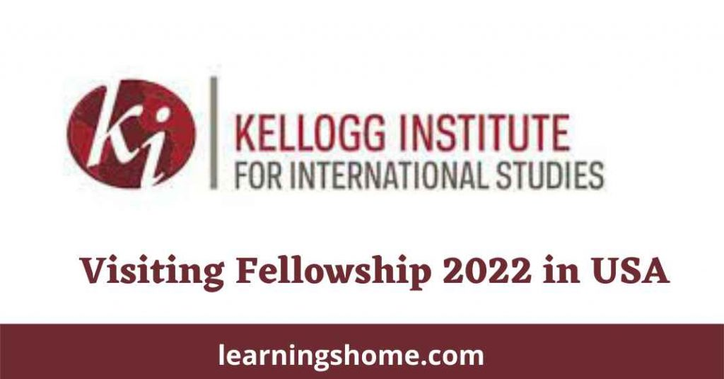 Kellogg Institute Visiting Fellowship