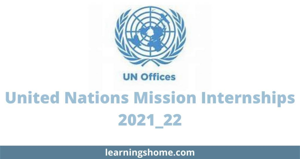 United Nations Mission Internships 2021_22